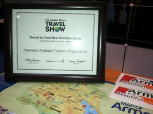Единый павильон Армении и Нагорного Карабаха признан лучшим на престижной туристической выставке в США