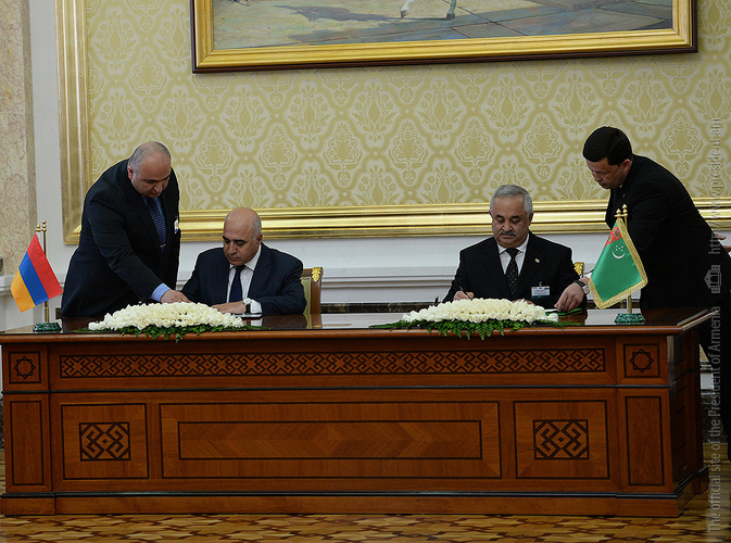 В Ашхабаде состоялись армяно-туркменские переговоровы высокого уровня